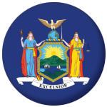 New York State Flag 58mm Mirror